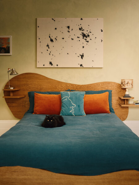 A Room of One's Own: how artists Eliza Hopewell and Theodore Vass handcrafted the bedroom of their first flat together